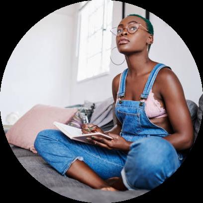 Black Woman Journaling